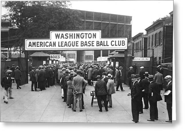 Washington Dc Baseball Greeting Cards - Washington Baseball Club Greeting Card by Charles Somerville