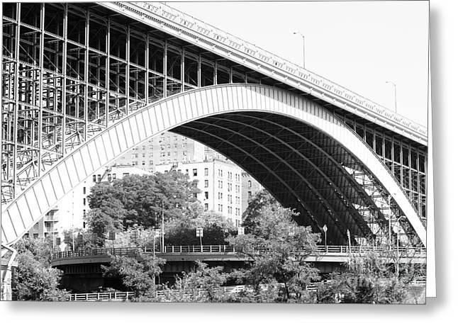 Swing Span Greeting Cards - Washington Bridge New York City Greeting Card by Robert Yaeger