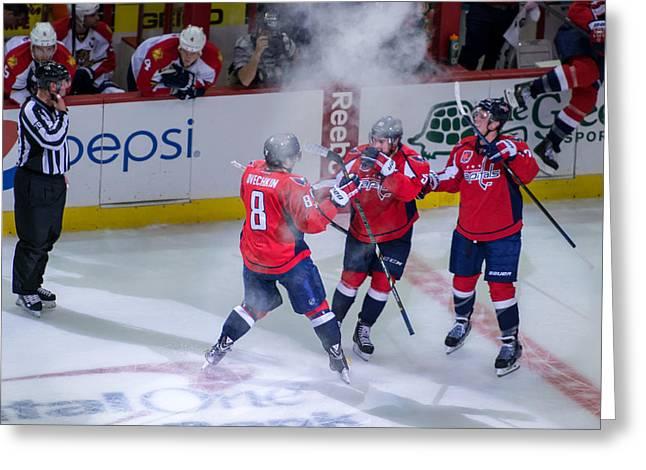 Washington Capitals Victory  Greeting Card by Pavel Petrushenko