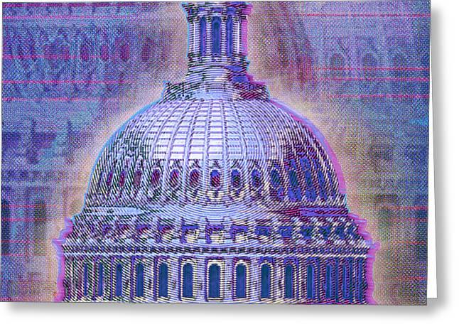 Patriot Art Prints Greeting Cards - Washington Capitol Dome Greeting Card by Tony Rubino