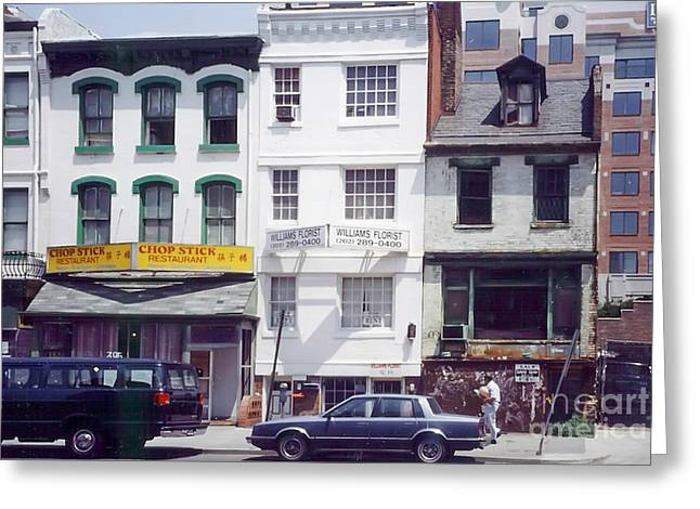 1980s Greeting Cards - Washington Chinatown in the 1980s Greeting Card by Thomas Marchessault