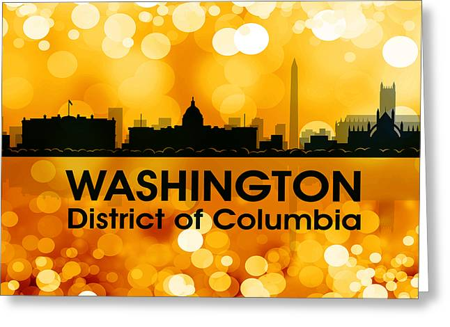 Industrial Icon Greeting Cards - Washington DC 3 Greeting Card by Angelina Vick