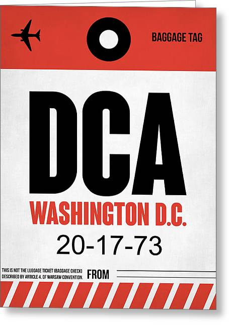 D Greeting Cards - Washington D.C. Airport Poster 1 Greeting Card by Naxart Studio