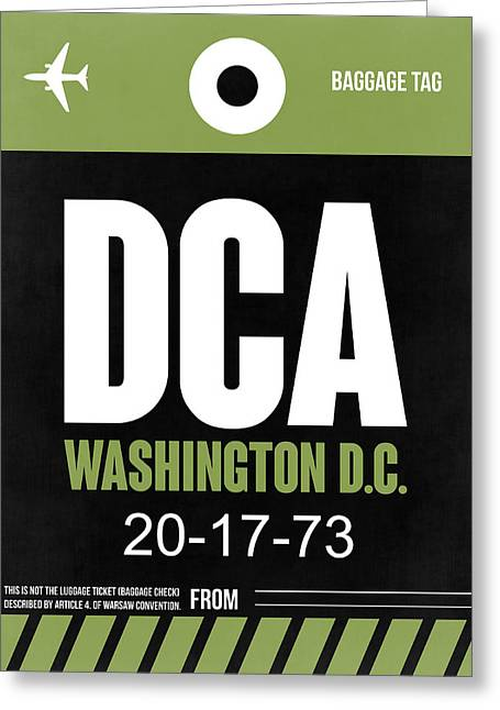 D Greeting Cards - Washington D.C. Airport Poster 2 Greeting Card by Naxart Studio