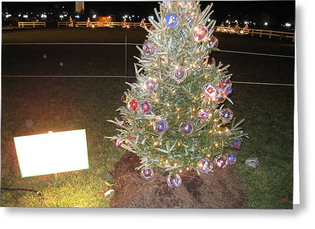 Ornaments Greeting Cards - Washington DC - Christmas at The Ellipse - 12125 Greeting Card by DC Photographer