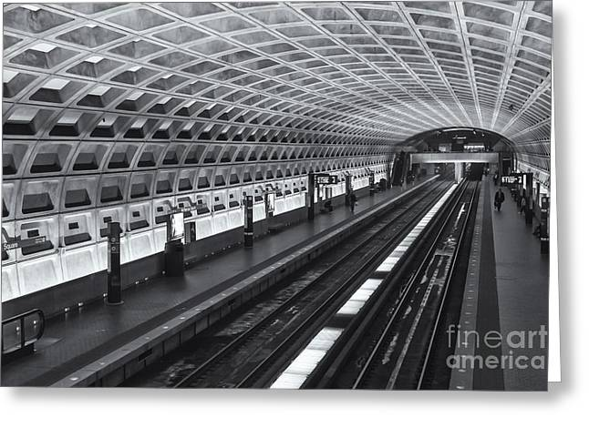 Brutalism Greeting Cards - Washington DC Metro Station I Greeting Card by Clarence Holmes