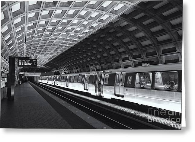 Brutalism Greeting Cards - Washington DC Metro Station IV Greeting Card by Clarence Holmes
