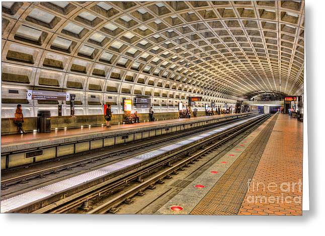 Brutalism Greeting Cards - Washington DC Metro Station IX Greeting Card by Clarence Holmes
