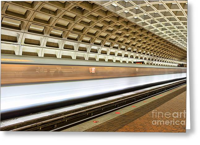 Brutalism Greeting Cards - Washington DC Metro Station VII Greeting Card by Clarence Holmes