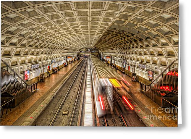 Brutalism Greeting Cards - Washington DC Metro Station XI Greeting Card by Clarence Holmes