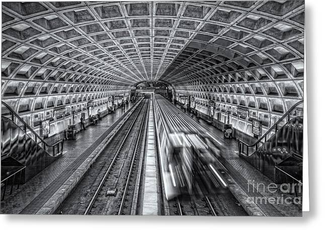 Brutalism Greeting Cards - Washington DC Metro Station XII Greeting Card by Clarence Holmes