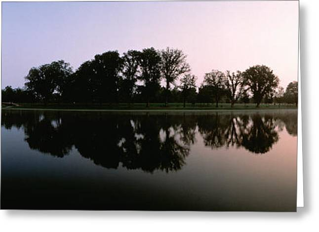 Reflecting Water Greeting Cards - Washington Dc Greeting Card by Panoramic Images