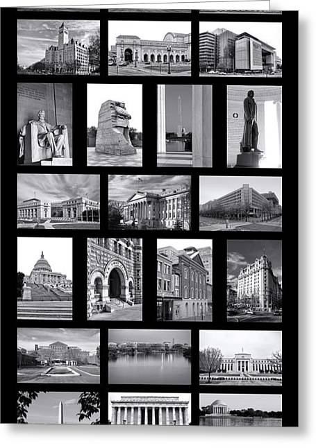 White House Prints Greeting Cards - Washington DC Poster Greeting Card by Olivier Le Queinec