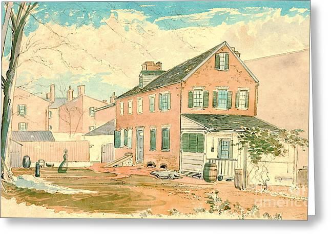 Washington D.c. Square 1874 Greeting Card by Padre Art