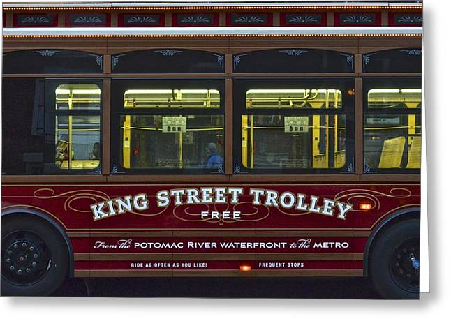 National Commercial Greeting Cards - Washington DC Trolley Greeting Card by Frozen in Time Fine Art Photography