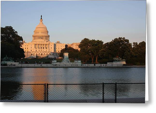 Washington DC - US Capitol - 011312 Greeting Card by DC Photographer