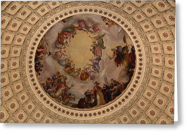 Edifices Greeting Cards - Washington DC - US Capitol - 011323 Greeting Card by DC Photographer