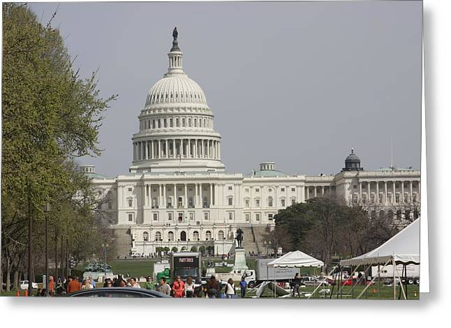 Congress Greeting Cards - Washington DC - US Capitol - 01134 Greeting Card by DC Photographer