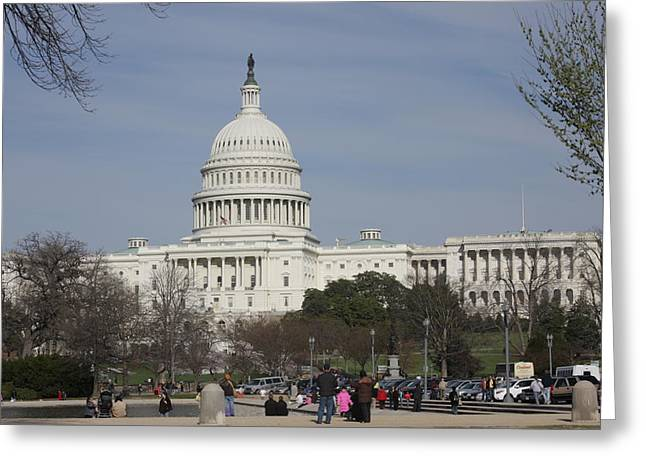 Washington Dc - Us Capitol - 01135 Greeting Card by DC Photographer