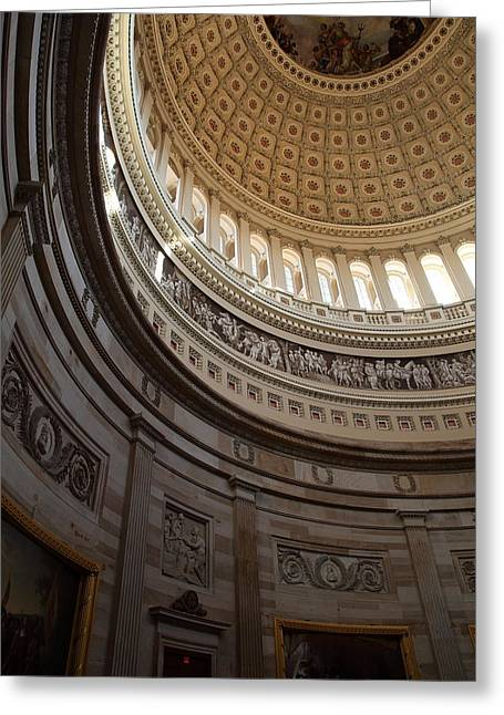 Usa Photographs Greeting Cards - Washington DC - US Capitol - 01138 Greeting Card by DC Photographer