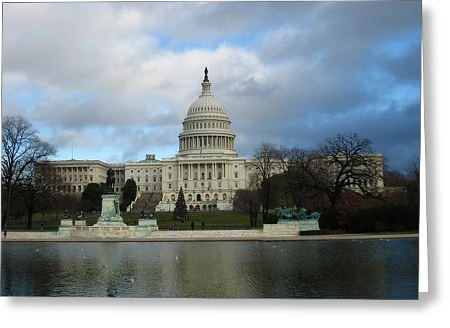 Steps Greeting Cards - Washington DC - US Capitol - 12122 Greeting Card by DC Photographer
