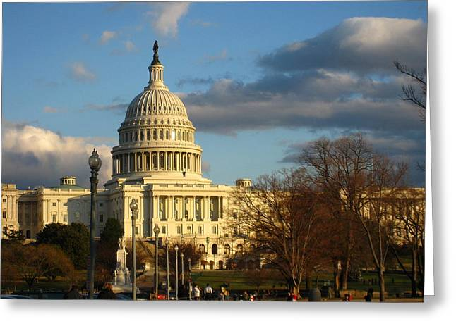 Dome Greeting Cards - Washington DC - US Capitol - 12126 Greeting Card by DC Photographer