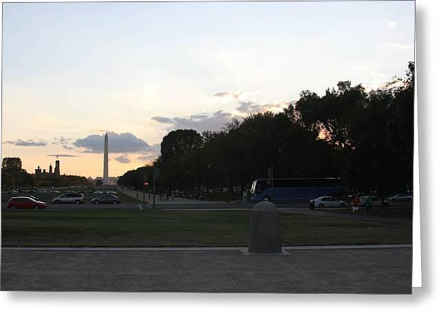 Destination Photographs Greeting Cards - Washington DC - Washington Monument - 01133 Greeting Card by DC Photographer
