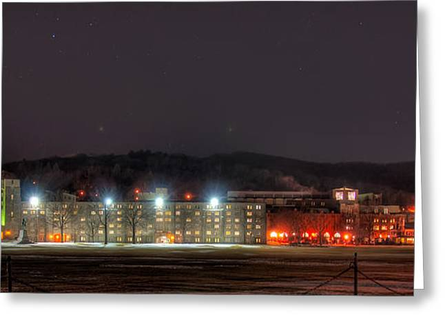 New York Night Greeting Cards - Washington Hall at Night Greeting Card by Dan McManus
