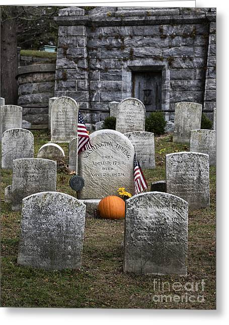 Holloween Greeting Cards - Washington Irving Grave Greeting Card by John Greim