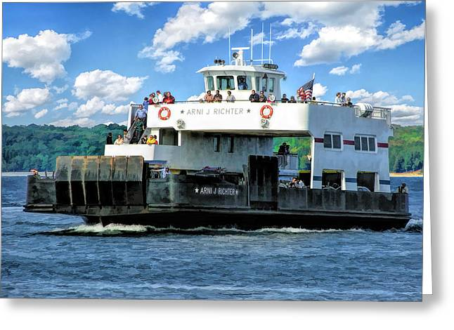 Richter Greeting Cards - Washington Island Ferry Arni J Richter Ice Breaker Door County Greeting Card by Christopher Arndt
