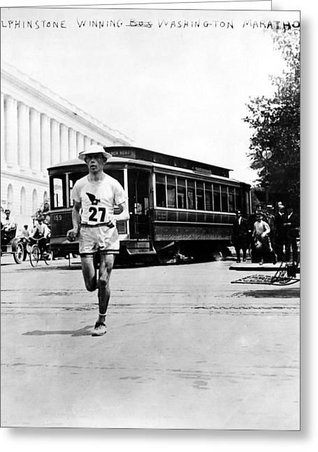 Washington Marathon, 1911 Greeting Card by Granger