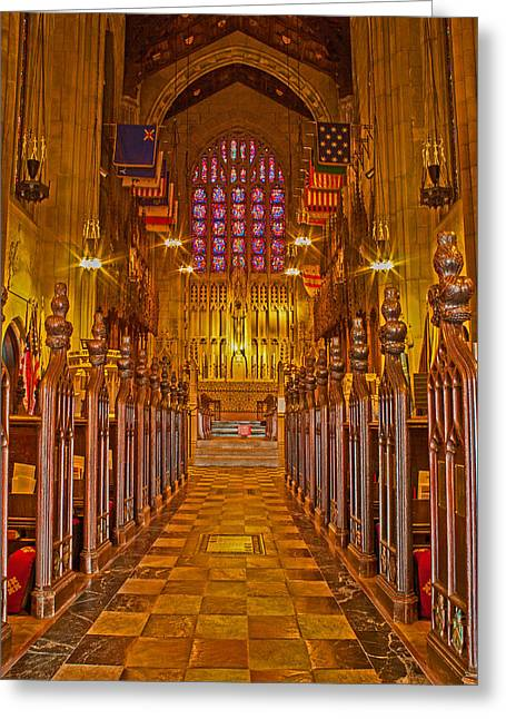 Ecumenical Greeting Cards - Washington Memorial Chapel Altar Greeting Card by Michael Porchik