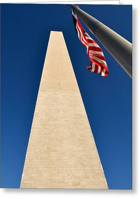 Washington Monument At Us Nation Capital Greeting Card by Brandon Bourdages