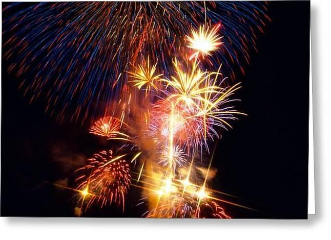 Washington Monument Fireworks 3 Greeting Card by Stuart Litoff