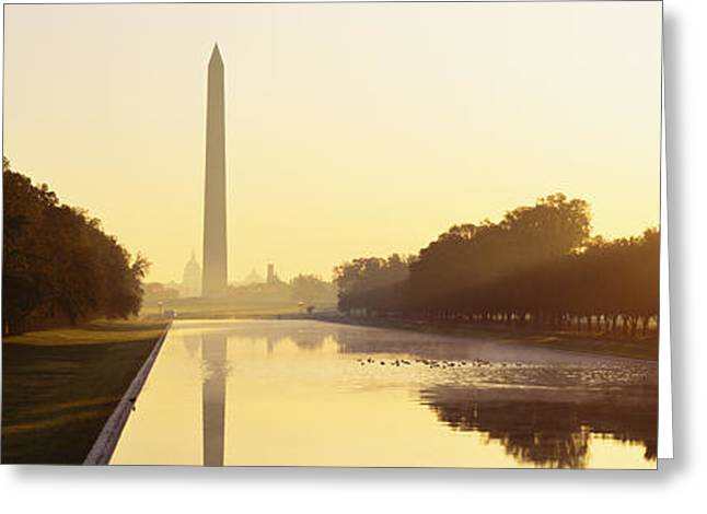 District Of Columbia Greeting Cards - Washington Monument Washington Dc Greeting Card by Panoramic Images