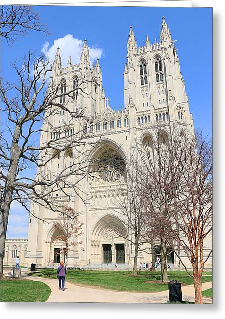 Ecumenical Greeting Cards - Washington National Cathedral Greeting Card by Allen Beatty