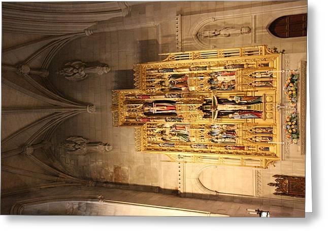 Archway Greeting Cards - Washington National Cathedral - Washington DC - 0113100 Greeting Card by DC Photographer