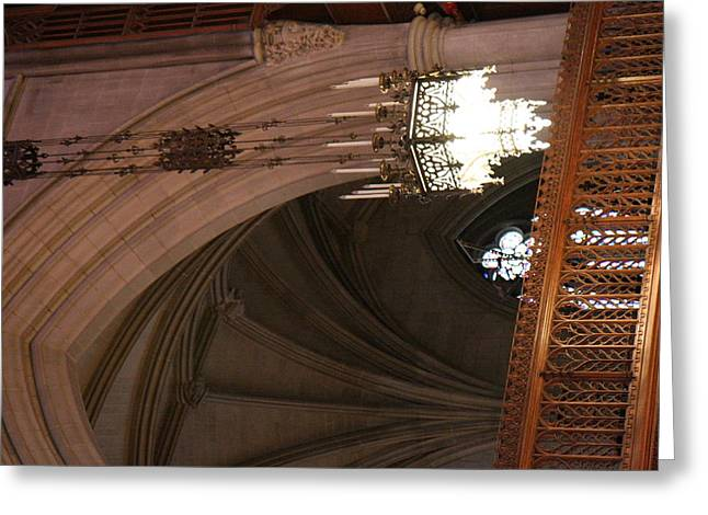 Archway Greeting Cards - Washington National Cathedral - Washington DC - 0113102 Greeting Card by DC Photographer