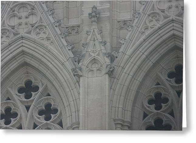 Arch Greeting Cards - Washington National Cathedral - Washington DC - 0113110 Greeting Card by DC Photographer