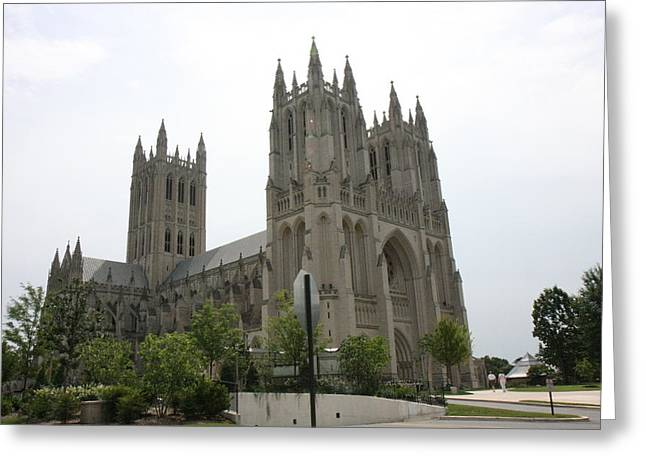 Washington National Cathedral - Washington Dc - 0113112 Greeting Card by DC Photographer