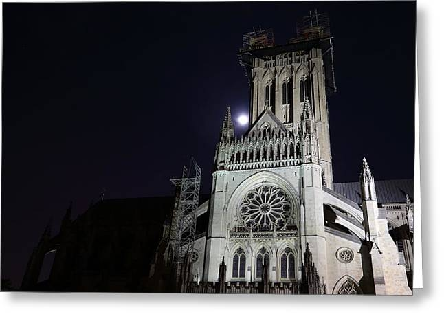 Prayer Greeting Cards - Washington National Cathedral - Washington DC - 0113114 Greeting Card by DC Photographer