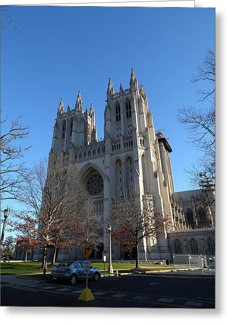 Washington National Cathedral - Washington Dc - 0113115 Greeting Card by DC Photographer