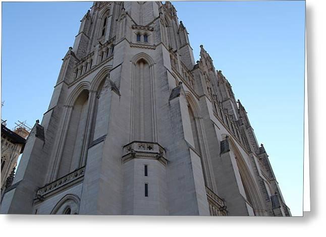 Washington National Cathedral - Washington DC - 0113121 Greeting Card by DC Photographer