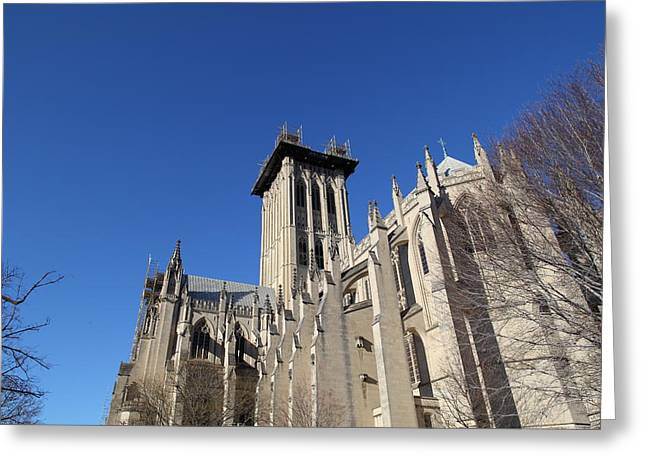Washington National Cathedral - Washington Dc - 0113126 Greeting Card by DC Photographer