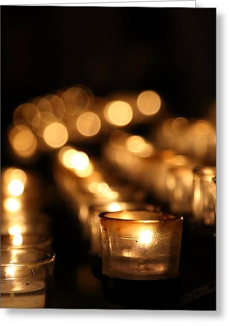 Pillars Photographs Greeting Cards - Washington National Cathedral - Washington DC - 011317 Greeting Card by DC Photographer