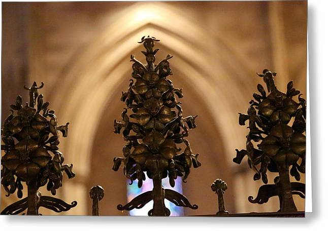 Prayer Greeting Cards - Washington National Cathedral - Washington DC - 011331 Greeting Card by DC Photographer