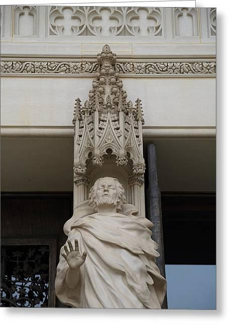 Sculpture Greeting Cards - Washington National Cathedral - Washington DC - 011343 Greeting Card by DC Photographer