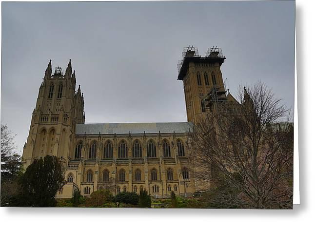 Prayer Greeting Cards - Washington National Cathedral - Washington DC - 011347 Greeting Card by DC Photographer
