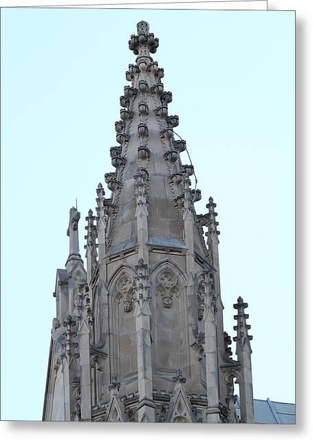 Stainglass Greeting Cards - Washington National Cathedral - Washington DC - 01135 Greeting Card by DC Photographer