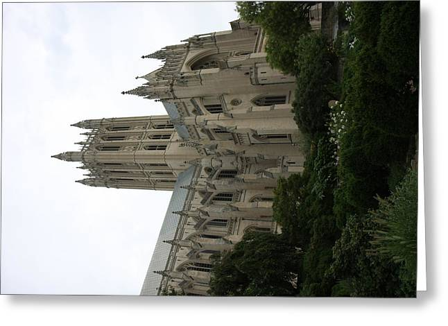 Capital Greeting Cards - Washington National Cathedral - Washington DC - 011350 Greeting Card by DC Photographer